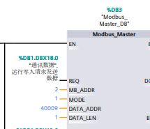 S7-1200与三菱D700modbus通讯读取频率写频率,触摸屏控制